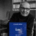 « Ecrits 1991-2011 » de Claude Régy aux Editions Les Solitaires Intempestifs